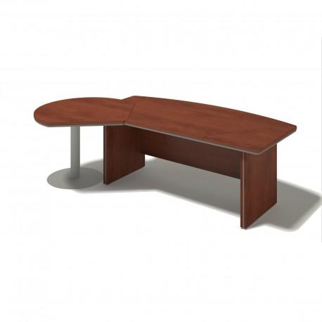 Písací stôl s jednacím prvkom - ľavý