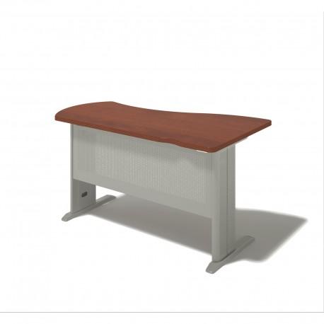 Písací stôl na kovovej podnoži - ľavý 100x160