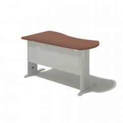 Písací stôl na kovovej podnoži - pravý 120x180